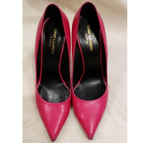 Saint Laurent Stiletto Pink Pumps Size 41